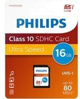 Philips SDHC-Karte 16GB Class 10