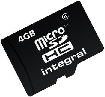 Integral microSDHC 4GB Class 4 + SD-Adapter