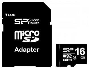 Silicon Power microSDHC 16GB Class10 (SP016GBSTH010V10-SP)
