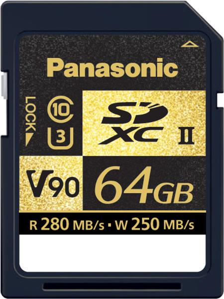 Panasonic SDXC UHS-II V90 - 64GB (RP-SDZA64GAK)