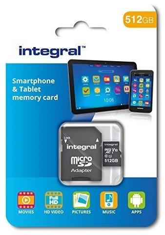 Integral Smartphone and Tablet microSDXC Class 10 UHS-I U1 - 512GB (INMSDX512G10-80SPTAB)
