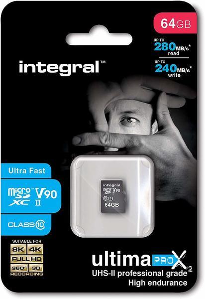 Integral UltimaPro X2 UHS-II V90 microSDXC 64GB