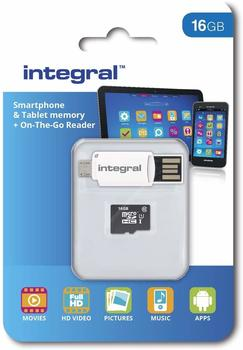 Integral Smartphone and Tablet microSDHC Class 10 UHS-I U1 - 16GB (INMSDH16G10-SPOTG)
