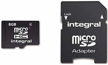 Integral microSDHC Class 10 UHS-I + SD-Adapter