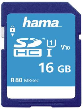 Hama SDHC 16GB Class 10 UHS-I 80MB/S, Schmale Verpackung