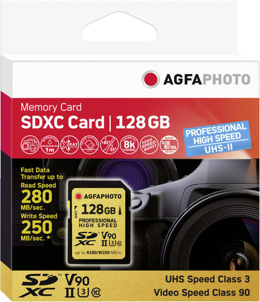 AgfaPhoto Professional UHS-II U3 V90 SDXC 128GB