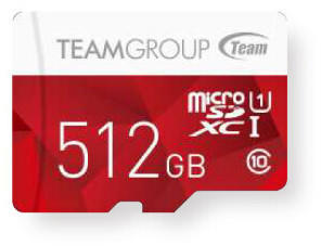TEAM GROUP microSDXC 512GB Class 10 UHS-I + SD-Adapter