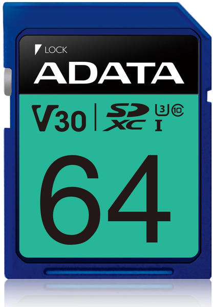 Adata Premier Pro U3 V30S SDXC 64GB (ASDX64GUI3V30S-R) V30