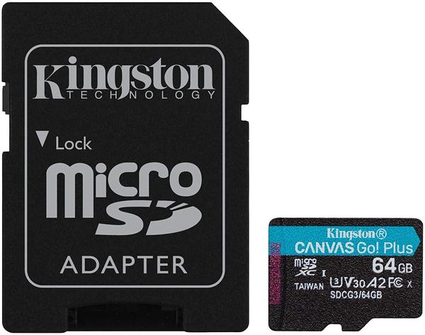 Kingston Canvas Go! Plus microSDXC 64GB (Adapter)