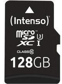 Intenso Professional microSDHC UHS-I Class 10 128GB Speicherkarte inkl. SD-Adapter (bis 90Mbps) schwarz