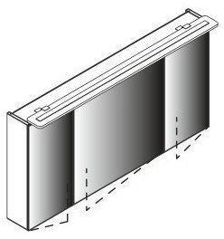Lanzet L6 120 cm Eiche Maron 3 Türen