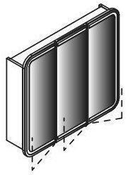 Lanzet Spiegelschrank 80 mit LED-Beleuchtung in den Türen 7597112