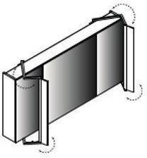 Lanzet Spiegelschrank 1200, LED, Leuchte Sidewing, 3T, Weiß