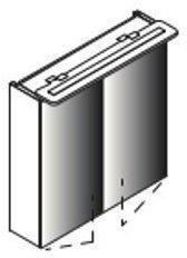 Lanzet Spiegelschrank 60 2T Grafit L6