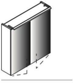 Lanzet Spiegelschrank 60 2T Eiche Maron L5