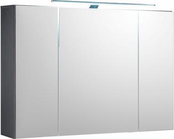 Bega Spiegelschrank weissGrau mit LED-Aufsatzleuchte Woody 32-00211 Holz Modern