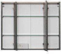 Held MÖBEL Spiegelschrank Ravello, Breite 80 cm grau