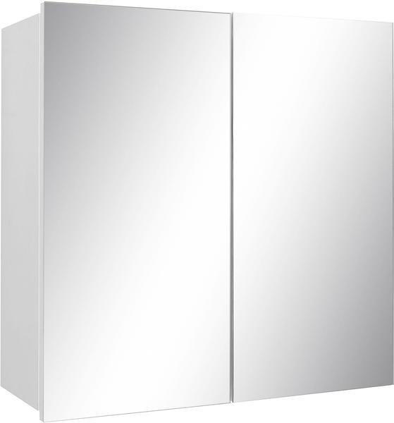 trendteam Spiegelschrank weiss Hochglanz lackiert mit zwei Türen Woody 93-01444
