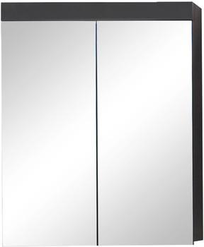 trendteam Spiegelschrank grau mit zwei Spiegeltüren Woody 93-01462