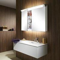 Schneider FACELINE Spiegelschrank mit LED-Beleuchtung mit Zwischenwand B: 80 H: 75,5 T: 16 cm 152.180.02.50, EEK: A+. Dieser Spiegelschrank enthält eingebaute LED-Lampen. A++ (LED), A+ (LED), A (LED).
