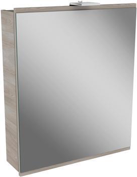 Fackelmann Lima LED Spiegelschrank 2,9 Watt 60 cm Breite Farbe Steinesche/Steinesche