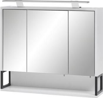Schildmeyer Spiegelschrank Limone mit LED-Beleuchtung, Breite 70 cm weiß