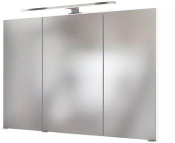 held-m-ebel-badezimmerspiegelschrank-livorno-3d-spiegelschrank-100-inklusive-led-beleuchtung-weiss