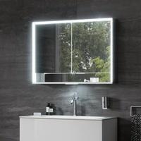 Keuco Royal Lumos Aufputz-Spiegelschrank mit LED-Beleuchtung B: 105 H: 73,5 T: 16,5 cm 14308171301, EEK: A+
