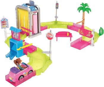 Mattel Barbie On The Go - Waschanlage Spielset (FHV91)