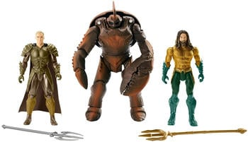 Mattel DC Aquaman Battle in the Box 15 cm, 3er Pack