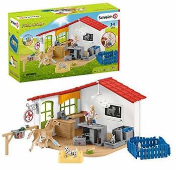 Schleich Tierarzt-Praxis mit Haustieren (42502)