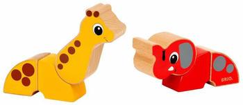 Brio Magnet-Tiere Elefant und Giraffe