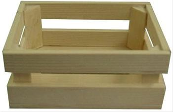Beluga Spielwaren Holzkiste 14x11x6cm für den Kaufladen
