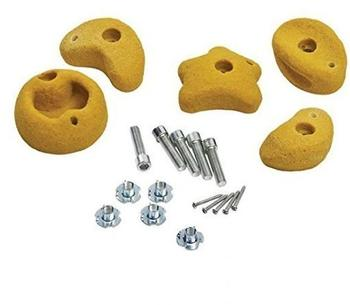 Klingl Spielgeräte Klettersteine 5 Stück Größe L - gelb - öffentlich extrem stabil DIN EN 1176