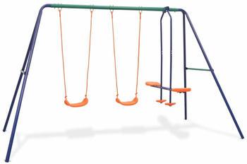 vidaXL Swing set with 4 seats orange