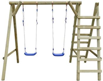 VidaXL Swing st with ladders 268 x 154 x 210 cm FSC pinewood