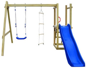 VidaXL Playhouse with slide ladders swing 242 x 237 x 175 cm FSC wood