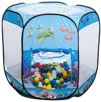 Smart & Clever Blue Ocean 6-eckig mit 500 Bällen