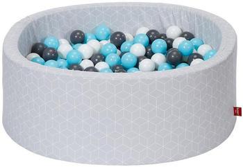 Knorrtoys Geo Cube grey creme/grey/lightblue