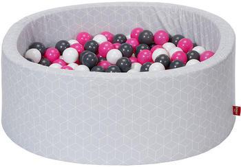 Knorrtoys Geo Cube grey creme/grey/rose