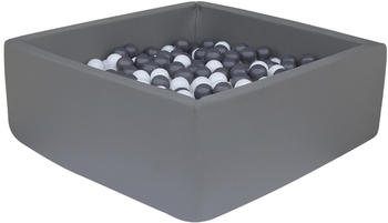 Knorrtoys Bällebad soft, eckig - dark grey