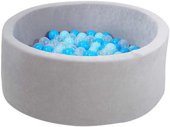 Knorrtoys Bällebad Soft Grey inkl. 300 Bälle soft blue/blue/transparent