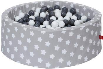 Knorrtoys Bällebad Soft Grey White Stars inkl. 300 Bälle grey/creme