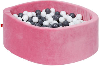 Knorrtoys Bällebad Soft Pink inkl. 300 Bälle grey/creme