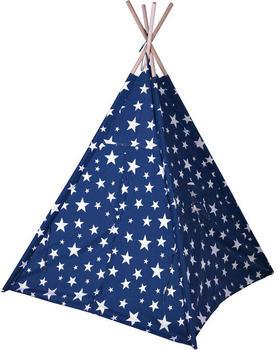Spetebo Spielzelt 160cm blau mit Sternen