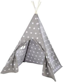 Roba Spielzelt 'Little Stars', Bodenunterlage & Tragetasche, Wigwam für Kinderzimmer & Outdoor