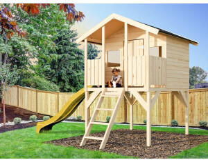 Belladoor Spielhaus Toby mit Rutsche gelb