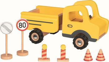 Gollnest & Kiesel Goki Baustellenfahrzeug mit Verkehrsschildern