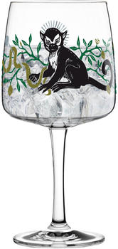 Ritzenhoff Gin Ginglas Karin Rytter King Of Monkeys Gin Glas Schnapsglas Kristallglas 700 ml 3450001