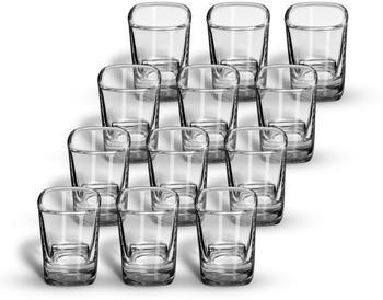 SIXBY Schnapsgläser 4cl VIVA Shot, quadratische Form, Menge:12 Stück
